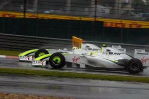 Jenson Button, Brawn GP BGP001, Rubens Barrichello, Brawn GP BGP001