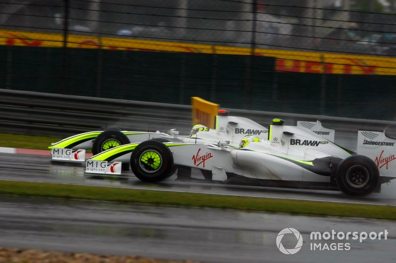 Jenson Button, Brawn GP BGP001, Rubens Barrichello, Brawn GP BGP001