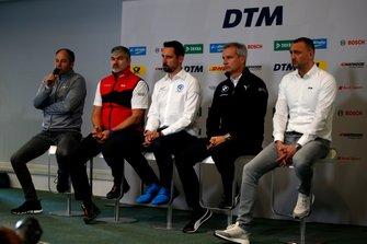 Conferenza stampa, Gerhard Berger, Presidente ITR, Dieter Gass, Capo del DTM Audi Sport, Dr. Florian Kamelger, fondatore e proprietario AF Racing AG e Team principal R-Motorsport, Jens Marquardt, Dirrettore BMW Motorsport, Achim Kostron, ITR