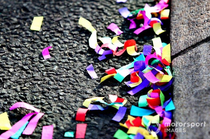 Confetti at the parade