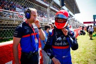 Daniil Kvyat, Toro Rosso, sur la grille