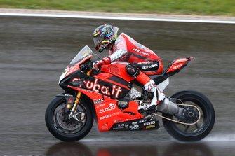 Chaz Davies, Aruba.it Racing-Ducati Team on wett assessment laps