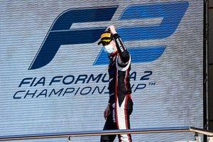 Louis Deletraz, Charouz Racing System celebrates on the podium