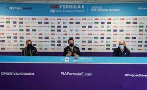 Susie Wolff, Team Principal, Venturi, Ian James, Team Principal, Mercedes-Benz EQ, Christian Silk, Team Principal, NIO 333, en conférence de presse