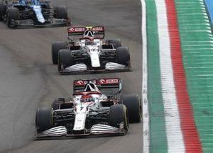 Kimi Raikkonen, Alfa Romeo Racing C41, Antonio Giovinazzi, Alfa Romeo Racing C41, and Fernando Alonso, Alpine A521