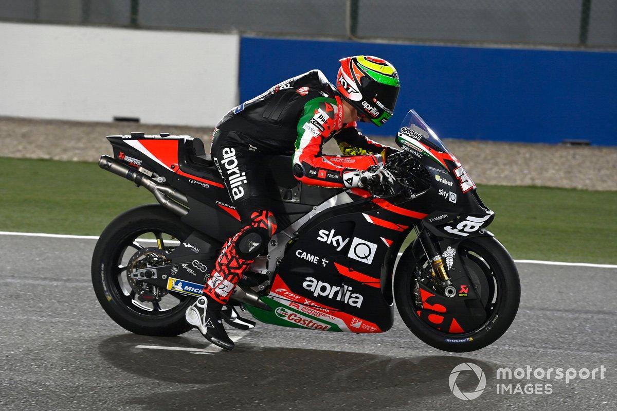 Lorenzo Savadori, Aprilia Racing Team Gresini, practice start