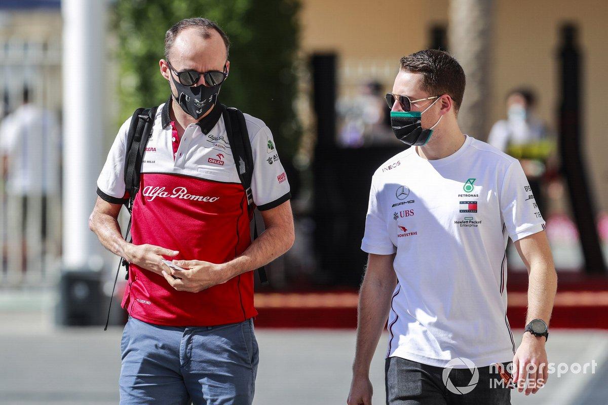 Robert Kubica, piloto reserva de Alfa Romeo y Stoffel Vandoorne, de Mercedes-AMG F1