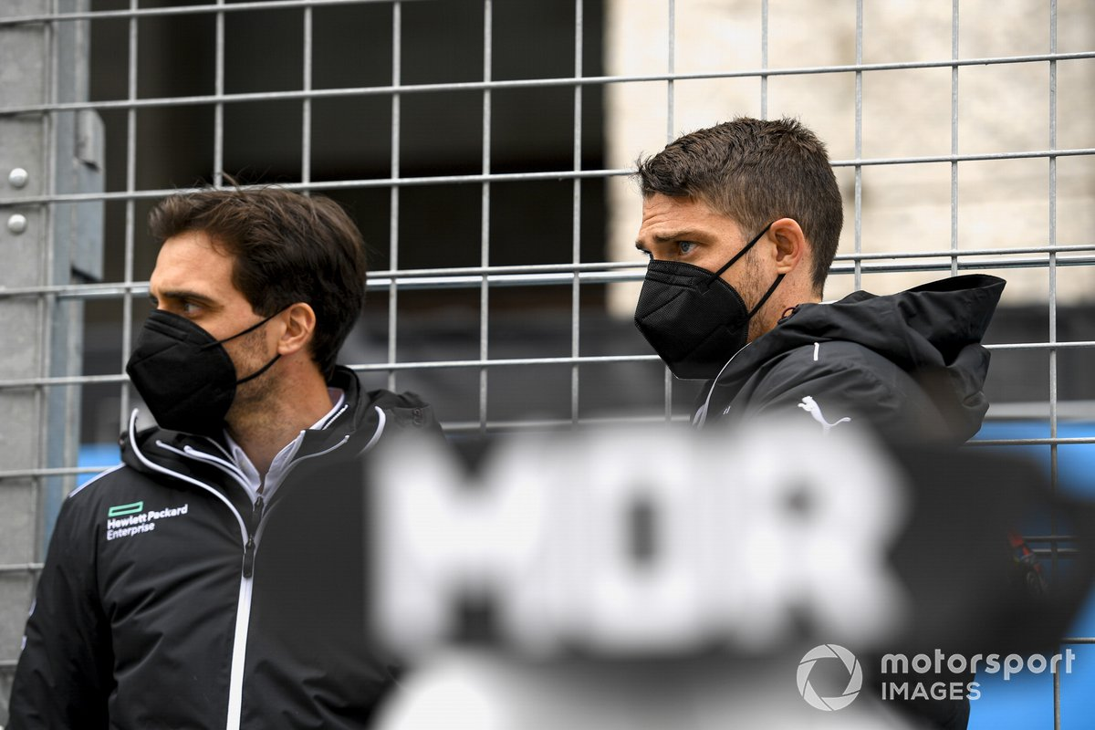 Jerome d'Ambrosio, subdirector de Venturi Racing, Edoardo Mortara, Venturi Racing