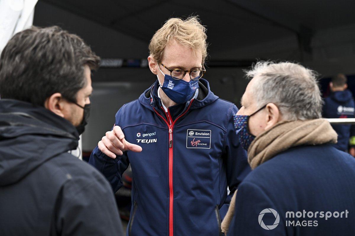 Jean Todt, President, FIA, con Sylvain Filippi, director del, Envision Virgin Racing