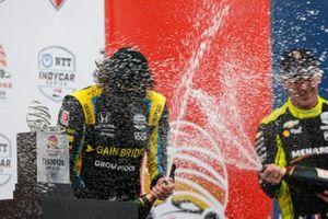 Colton Herta, Andretti Autosport Honda, Simon Pagenaud, Team Penske Chevrolet