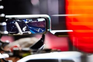 Valtteri Bottas, Mercedes W12, as seen in his rear view mirror