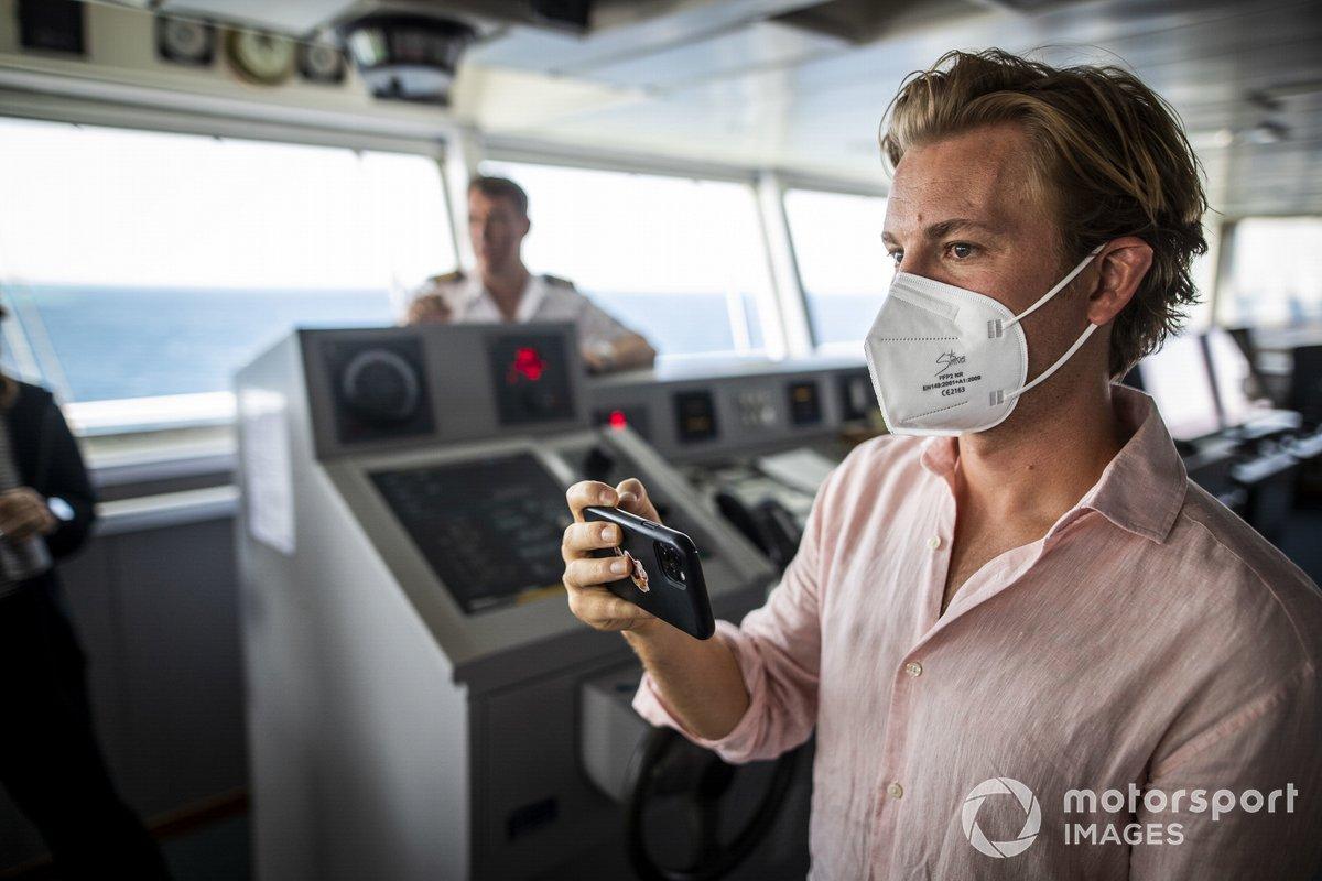Nico Rosberg, fundador y CEO de Rosberg X Racing, en el buque St Helena