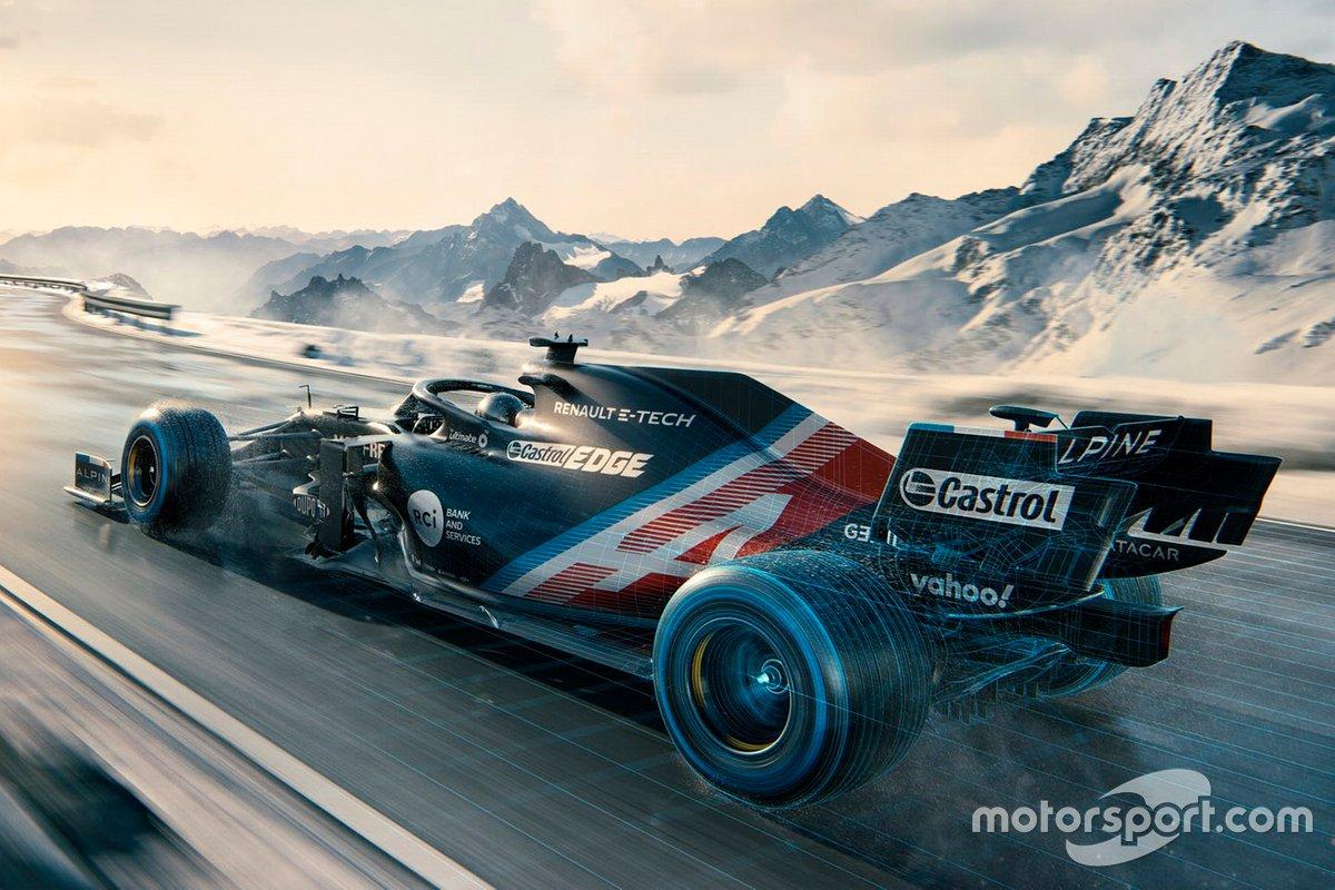 Decoración provisional de Alpine F1