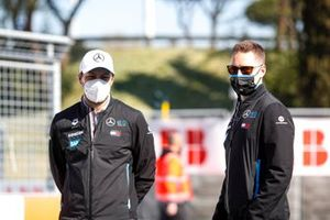 Stoffel Vandoorne, Mercedes-Benz EQ, with a team mate