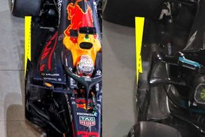 Comparaison de fonds plats entre Red Bull et Mercedes