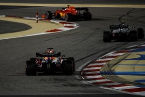 Charles Leclerc, Ferrari SF1000, Kevin Magnussen, Haas VF-20, and Max Verstappen, Red Bull Racing RB16