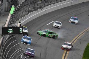 Kyle Busch, Joe Gibbs Racing, Toyota Camry Interstate Batteries spins