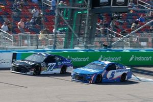 Justin Haley, Spire Motorsports, Chevrolet Camaro, Kyle Larson, Hendrick Motorsports, Chevrolet Camaro HendrickCars.com