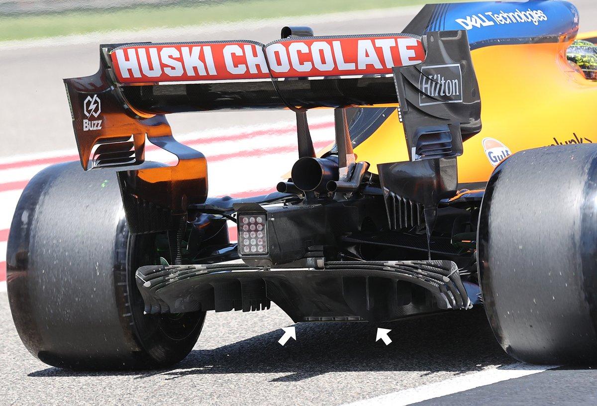Detalle del difuros del McLaren MCL35M