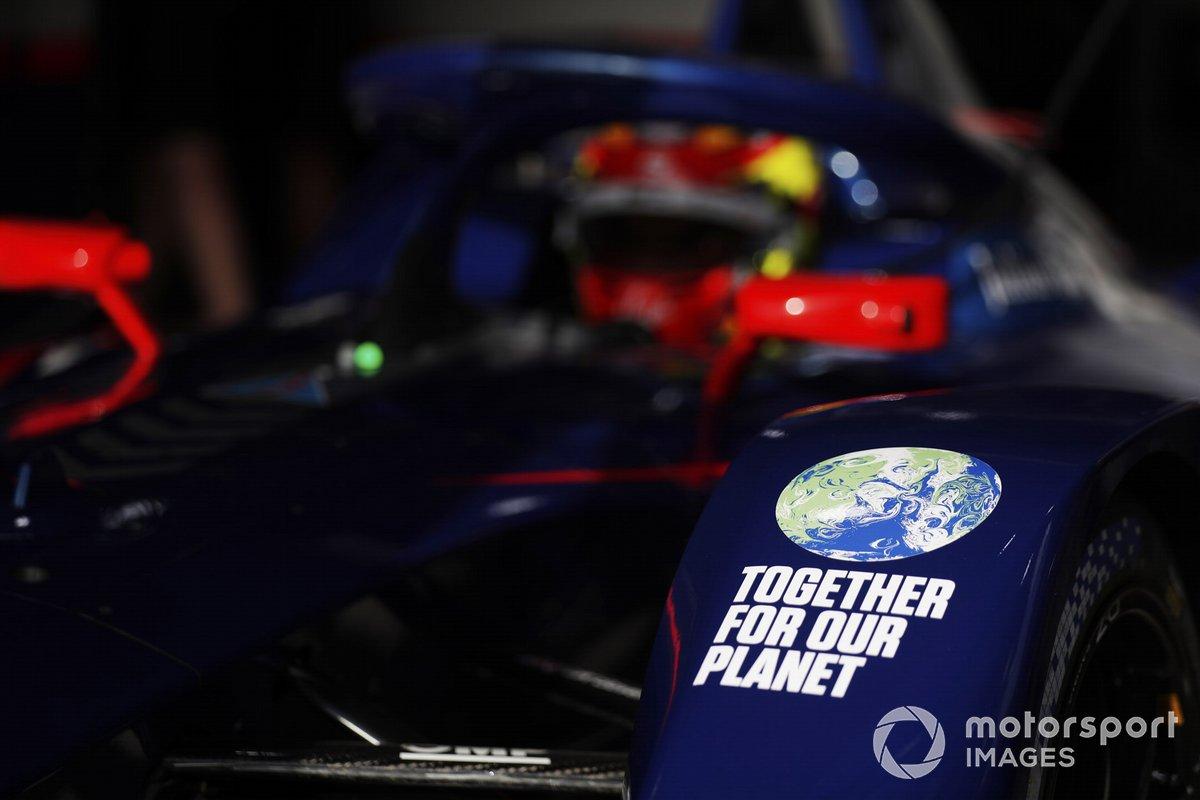 Logo de respeto al medio ambiente en el Envision Virgin Racing, Audi e-tron FE07
