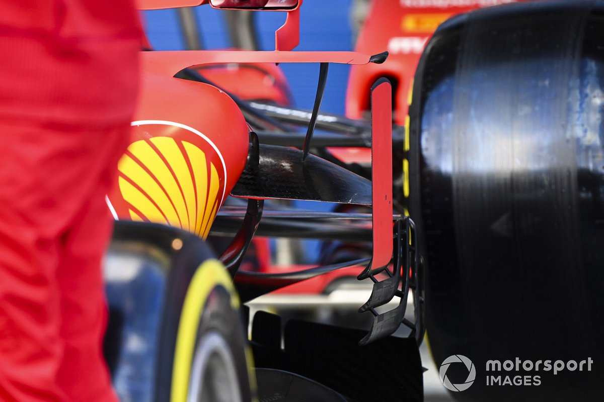 Detalle aerodinámico lateral del Ferrari SF1000