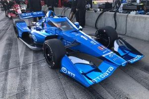 Alex Palou, Chip Ganassi Racing probando su Honda
