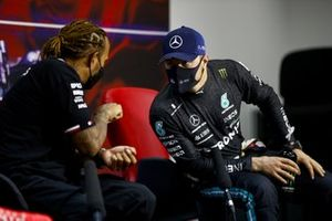 Race winner Lewis Hamilton, Mercedes and Valtteri Bottas, Mercedes in the Press Conference