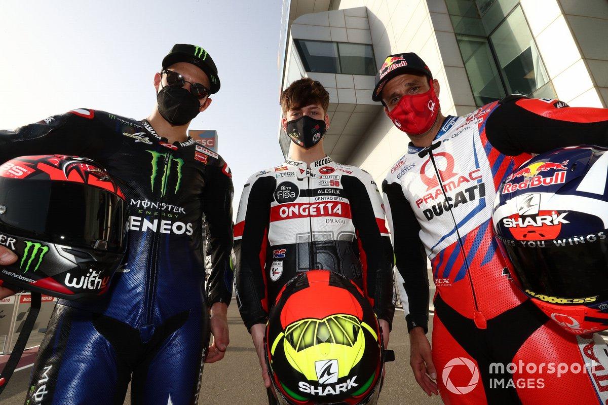 Fabio Quartararo, Yamaha Factory Racing Johann Zarco, Pramac Racing, Lorenzo Fellon, SIC58 Squadra Corse