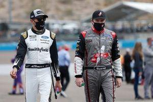 Aric Almirola, Stewart-Haas Racing, Ford Mustang Smithfield, Cole Custer, Stewart-Haas Racing, Ford Mustang HaasTooling.com