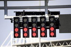Lights on the main straight