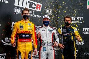 Nathanael Berthon, Comtoyou DHL Team Audi Sport Audi RS3 LMS, Jean-Karl Vernay, Mulsanne Alfa Romeo Giulietta TCR, Gilles Magnus, Comtoyou Racing Audi RS3 LMS