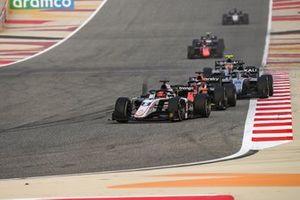 Marcus Armstrong, ART Grand Prix leads Giuliano Alesi, MP Motorsport and Nikita Mazepin, Hitech Grand Prix