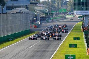 Lirim Zendeli, Trident, Michael Belov, Charouz Racing System en Enzo Fittipaldi, HWA Racelab