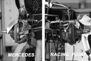 Mercedes-AMG F1 vs Racing Point brakes comparison