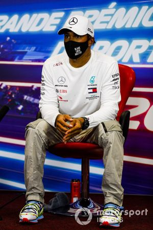 Pole Sitter Lewis Hamilton, Mercedes-AMG F1 in the press conference