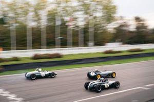 Richmond & Gordon Trophies. Miles Griffiths, Lotus 16 Climax, devant William Nuthall, Cooper-Climax T53 et Rudi Friedrichs, Cooper-Climax T53