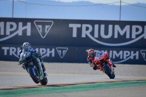 Maverick Viñales, Yamaha Factory Racing, Francesco Bagnaia, Pramac Racing