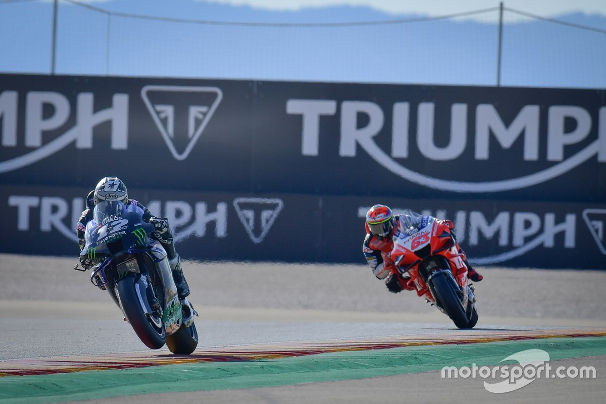 Maverick Viñales, Yamaha Factory Racing, Francesco Bagnaia, Pramac Racing