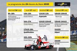 Le programme des 24 Heures du Mans 2020