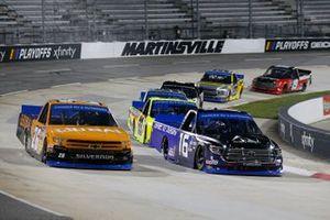 #16: Austin Hill, Hattori Racing Enterprises, Toyota Tundra AISIN Group #26: Tyler Ankrum, GMS Racing, Chevrolet Silverado Liuna