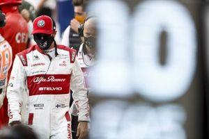 Kimi Raikkonen, Alfa Romeo, on the grid