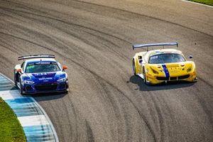 #8 GMG Racing Audi R8 LMS GT4: Elias Sabo, James Sofronas, Andy Lee, #6 Vital Speed Ferrari 488 GT3: Trevor Baek, Jeff Westphal, Ryan Briscoe