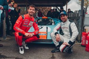 Mark Webber, Neel Jani in front of the Porsche 917 KH (1971)