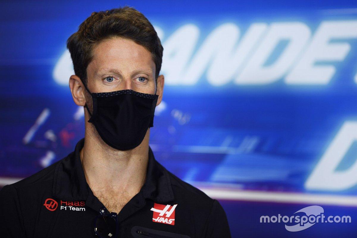 Romain Grosjean, Haas F1. in conferenza stampa