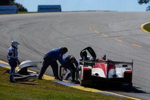 Crash: #85 JDC-Miller Motorsports Cadillac DPi, DPi: Matheus Leist, Chris Miller, Gabriel Aubry