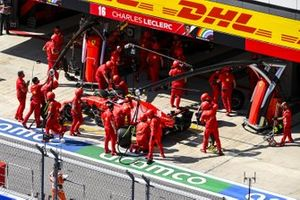 Charles Leclerc, Ferrari SF1000, in the pits