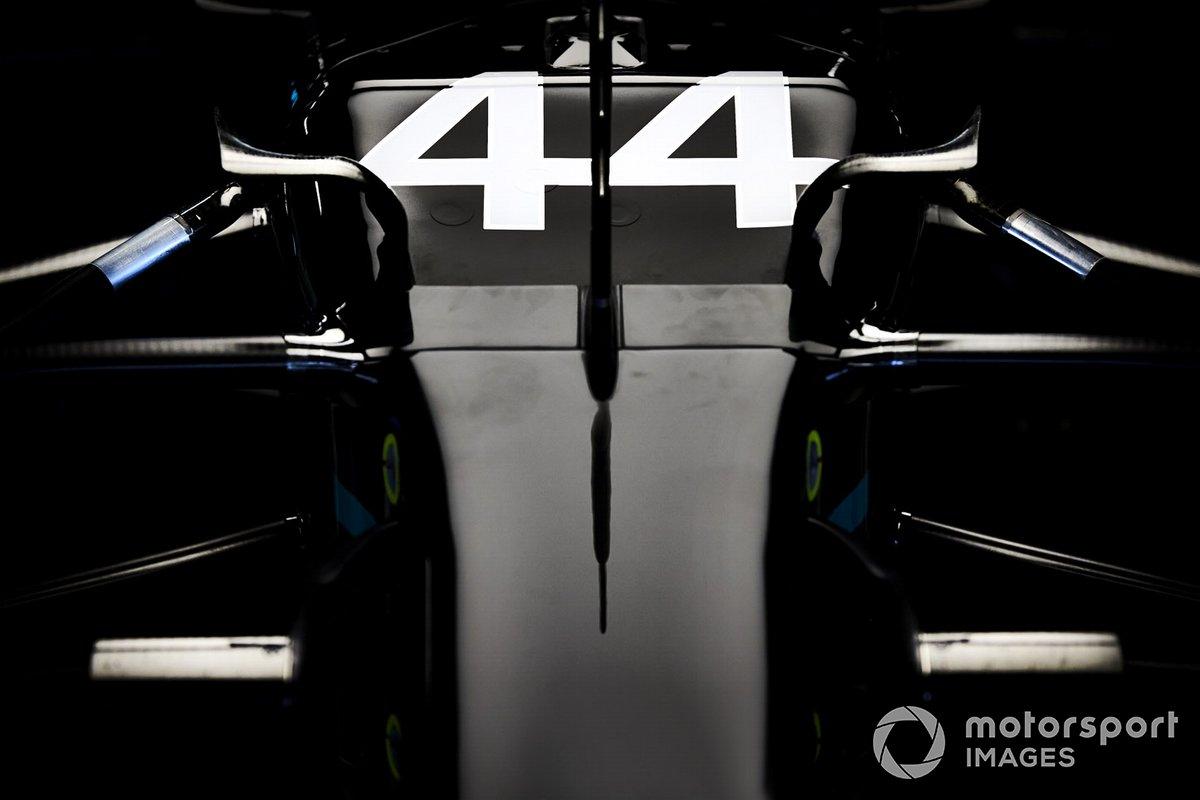 El morro de Lewis Hamilton, Mercedes F1 W11