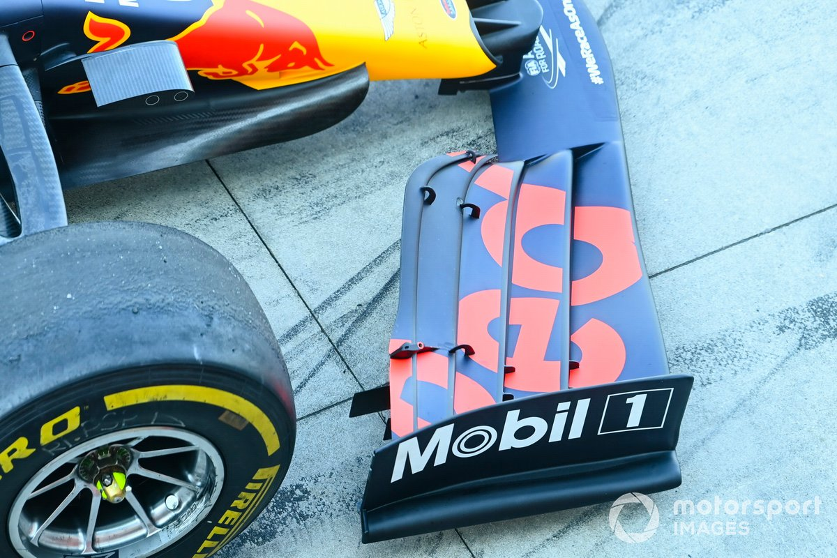 Front wing detail on the Red Bull Racing RB16