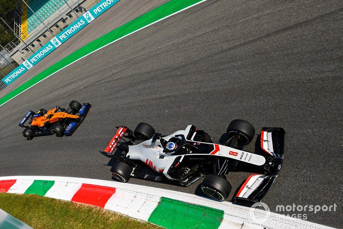Ромен Грожан, Haas VF-20, Ландо Норрис, McLaren MCL35