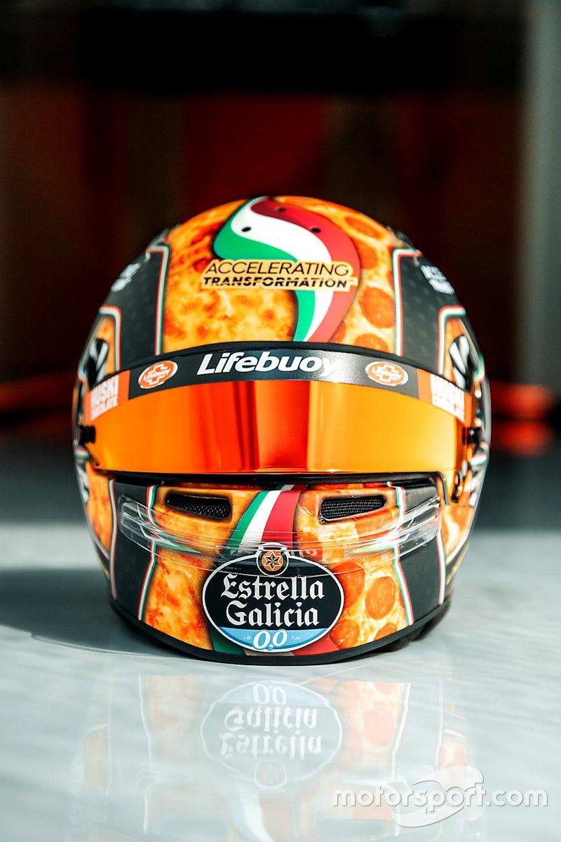Lando Norris'in kask tasarımı, McLaren